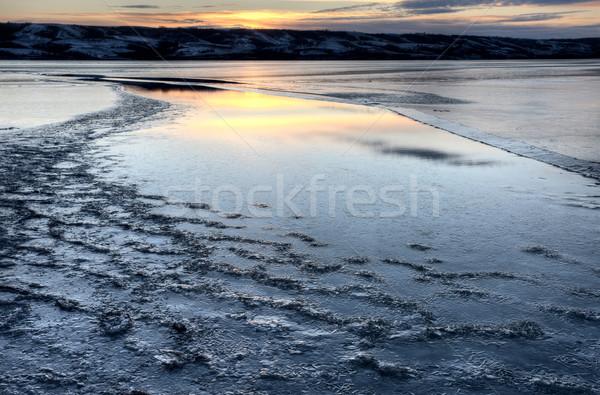Buz göl pound saskatchewan Kanada dizayn Stok fotoğraf © pictureguy
