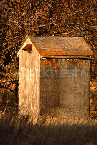 Old outhouse on abandoned farm stead Stock photo © pictureguy