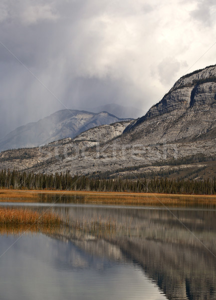Snow Clouds in the Rocky Mountains of Alberta Stock photo © pictureguy