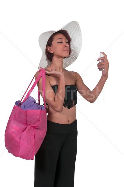 女性 適用 日焼け止め剤 美しい 若い女性 層 ストックフォト © piedmontphoto