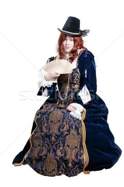 女性 本物の ドレス 肖像 劇場 劇場 ストックフォト © piedmontphoto
