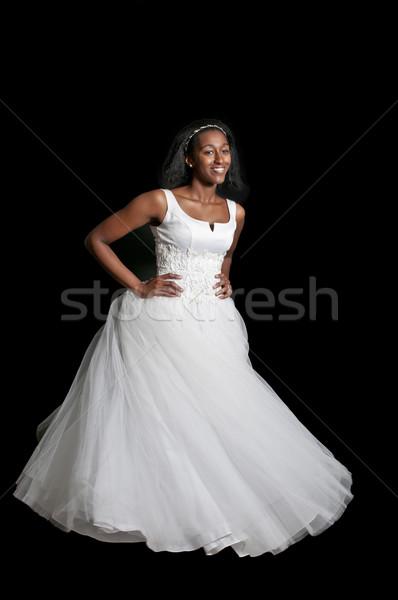 黒人女性 ウェディングドレス 黒 アフリカ系アメリカ人 女性 花嫁 ストックフォト © piedmontphoto