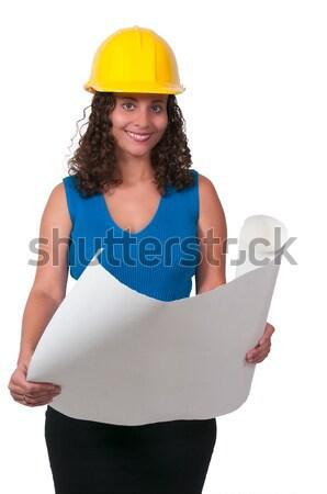 Kobiet pracownik budowlany pracy kobieta sexy Zdjęcia stock © piedmontphoto