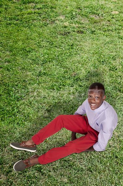 ハンサム 小さな 黒 アフリカ系アメリカ人 スタイリッシュ ストックフォト © piedmontphoto