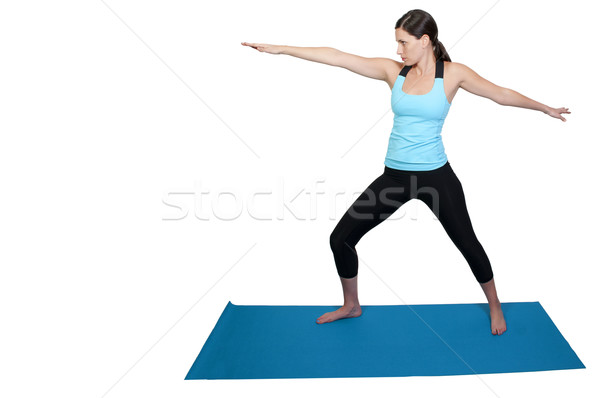 Сток-фото: женщину · йога · красивая · женщина · девушки · женщины