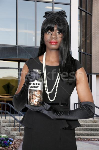 女性 アカウント 美人 コイン ストックフォト © piedmontphoto