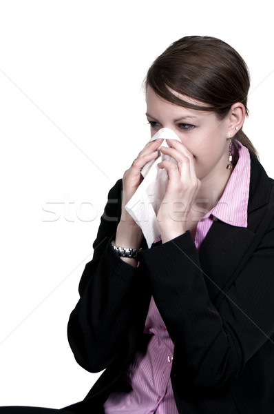 Woman Blowing Her Nose Stock photo © piedmontphoto
