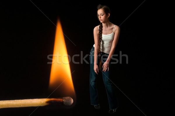 Burning Match Stock photo © piedmontphoto