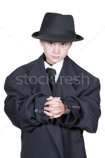 Boy in Oversized Clothes Stock photo © piedmontphoto
