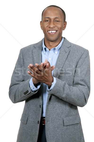 Black Man Clapping Stock photo © piedmontphoto