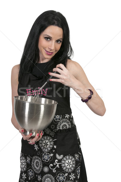 Woman with Mixing Bowl Stock photo © piedmontphoto