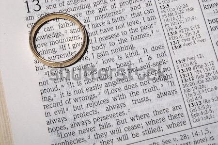 Wedding Ring on a Bible Stock photo © piedmontphoto