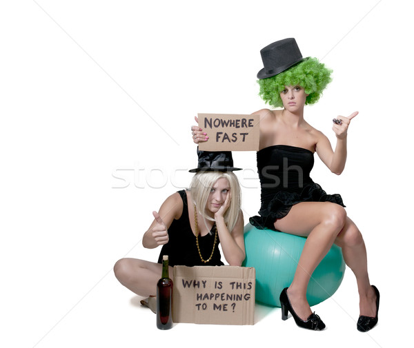 Women Holding a Why Sign Stock photo © piedmontphoto