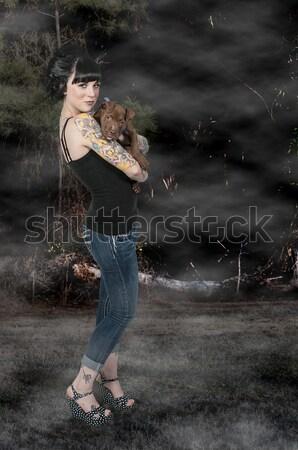 Woman with Assault Rifle Stock photo © piedmontphoto