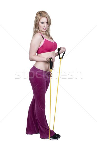 Kobieta piękna młoda kobieta odporność zespołu Zdjęcia stock © piedmontphoto