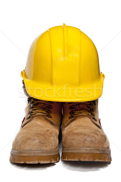 Hard Hat and Work Boots Stock photo © piedmontphoto