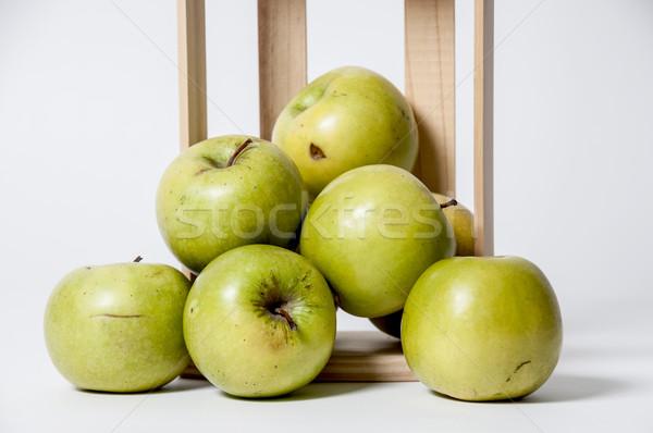 Nagyi alma köteg boldog zöld almák Stock fotó © piedmontphoto