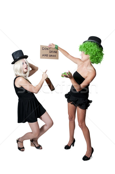 Women Holding Sign Stock photo © piedmontphoto
