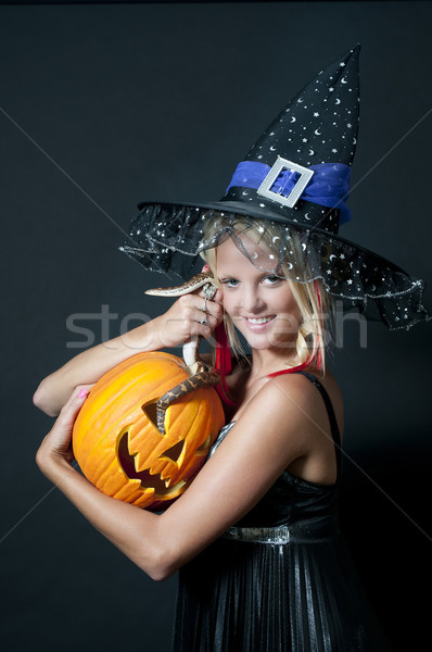 Witch with Snake Stock photo © piedmontphoto