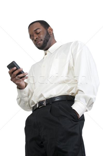 Business Man Texting Stock photo © piedmontphoto