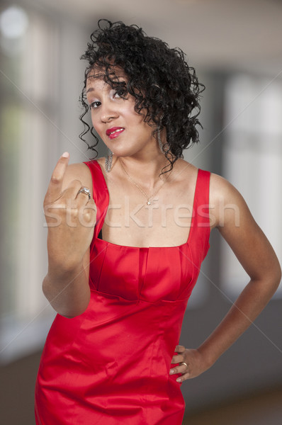 Woman Signaling to Come Here Stock photo © piedmontphoto