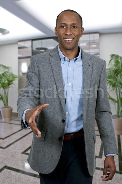 Stock photo: Black Man Shaking Hands