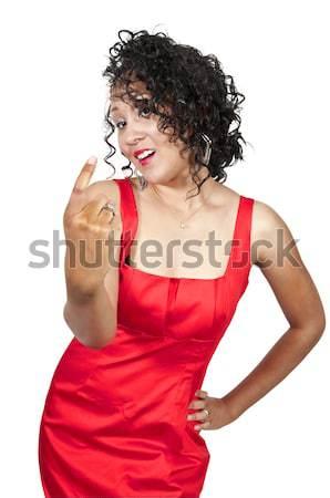 ボクシング 美しい 若い女性 着用 ストックフォト © piedmontphoto