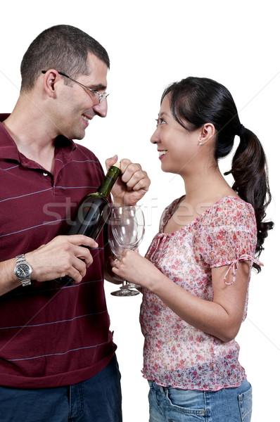 Couple with Wine Stock photo © piedmontphoto