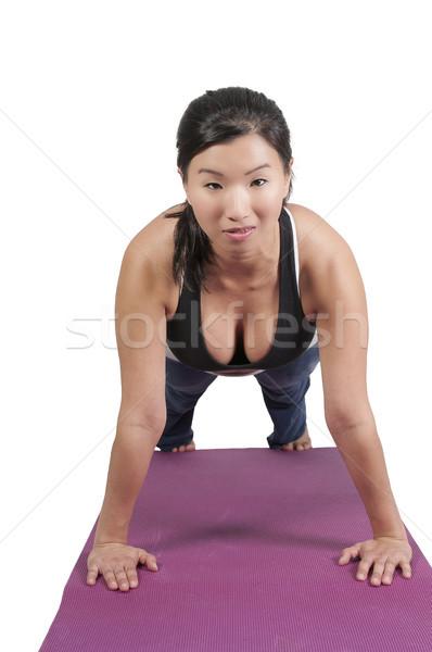 アジア 女性 ヨガ 美しい スポーツ フィットネス ストックフォト © piedmontphoto