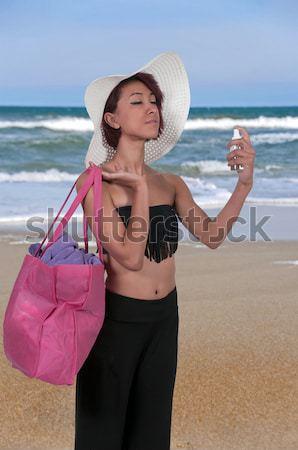 Bela mulher belo jovem mulher sexy praia Foto stock © piedmontphoto