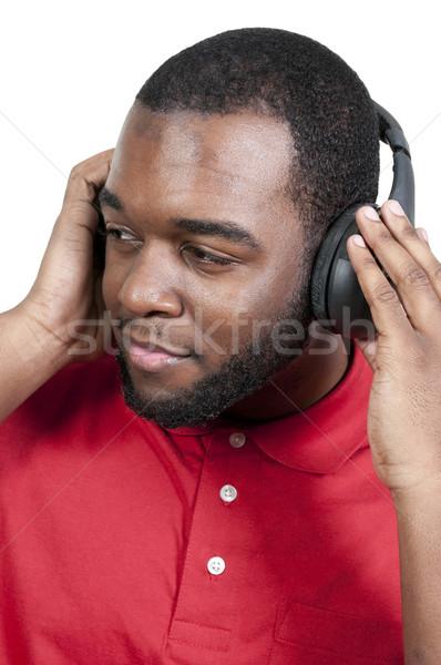 男 リスニング ヘッドホン ハンサムな男 セット ファッション ストックフォト © piedmontphoto