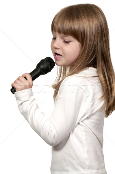 Girl Singer Stock photo © piedmontphoto