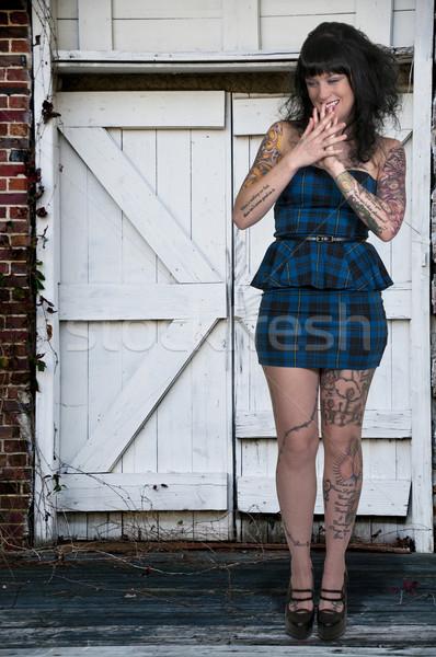 Beautiful Tattooed Woman Stock photo © piedmontphoto