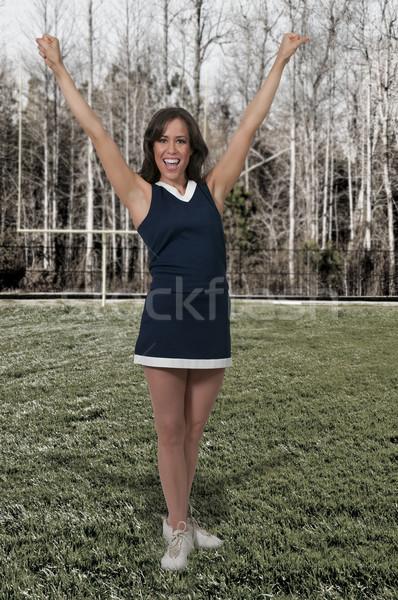 チアリーダー 美しい 若い女性 女性 少女 学校 ストックフォト © piedmontphoto