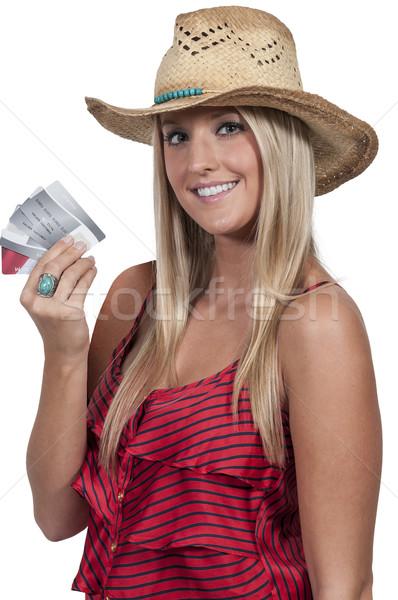女性 クレジットカード 美人 手 フル ストックフォト © piedmontphoto