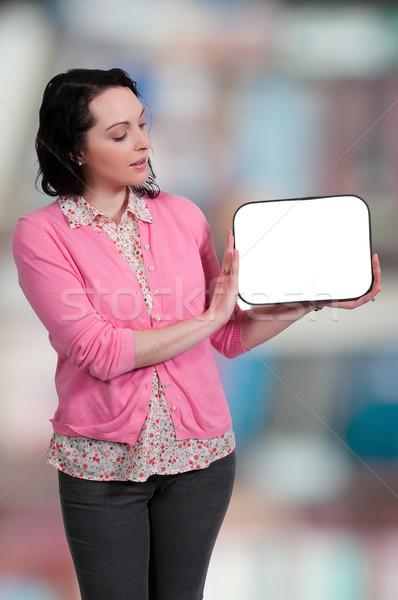 Kobieta piękna młodych gospodyni domowa Zdjęcia stock © piedmontphoto