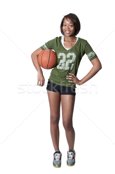 Black Woman Playing Basketball Stock photo © piedmontphoto