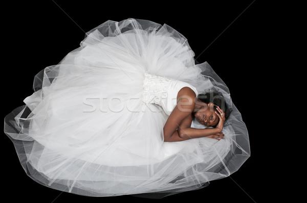 黒人女性 ウェディングドレス 黒 アフリカ 女性 花嫁 ストックフォト © piedmontphoto