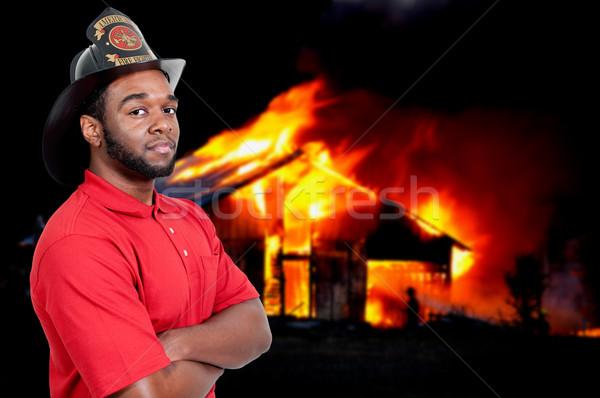 消防士 小さな 魅力的な 男性 アメリカン 男 ストックフォト © piedmontphoto