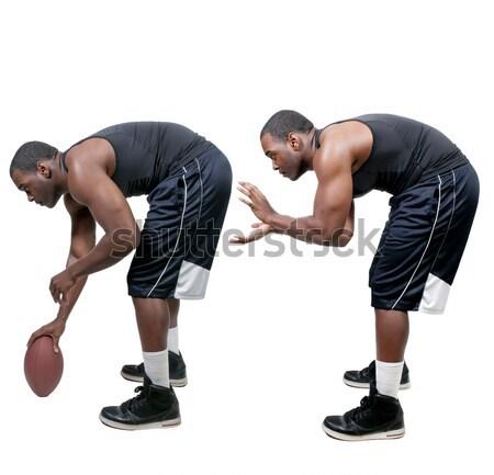 Black Man Lifting Weight Stock photo © piedmontphoto