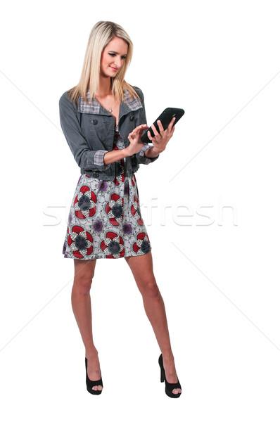 美人 美しい 若い女性 携帯電話 ビジネス ストックフォト © piedmontphoto