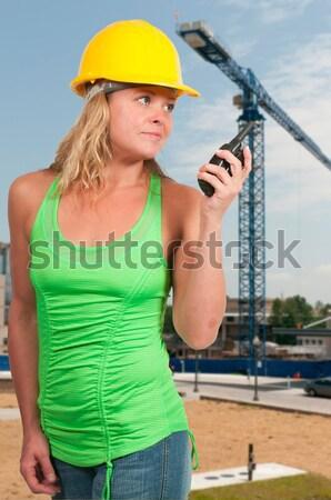 Homme travailleur de la construction Emploi femme construction Photo stock © piedmontphoto