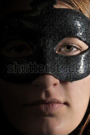 Mooie oog jonge vrouw gezicht schoonheid kleur Stockfoto © piedmontphoto