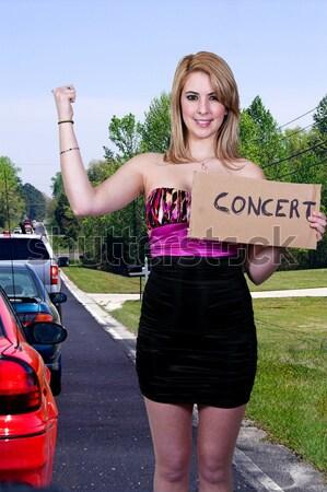 работу здравоохранения красивая женщина знак женщину Сток-фото © piedmontphoto