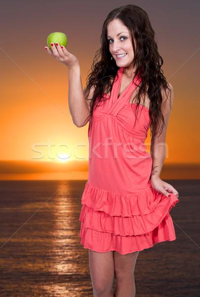 女性 リンゴ 美人 新鮮な ストックフォト © piedmontphoto