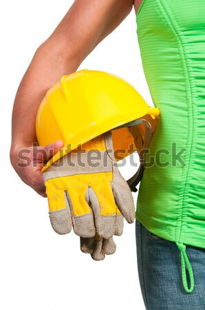 Murzyn pracownik budowlany czarny człowiek pracy Zdjęcia stock © piedmontphoto