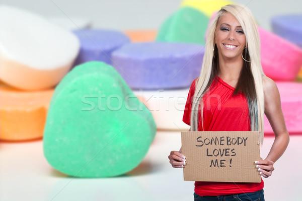 Vrouw teken mooie jonge vrouw Stockfoto © piedmontphoto