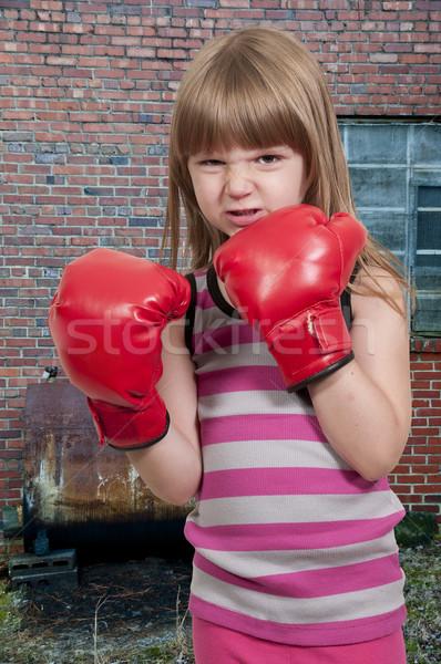 少女 ボクサー 美しい 小さな 女の子 着用 ストックフォト © piedmontphoto