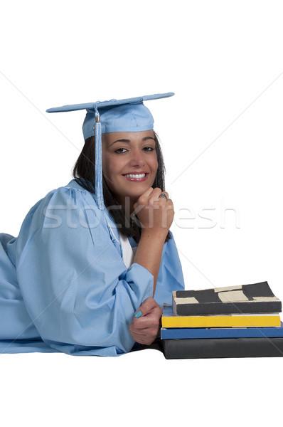 Pós-graduação jovem preto africano americano mulher graduação Foto stock © piedmontphoto