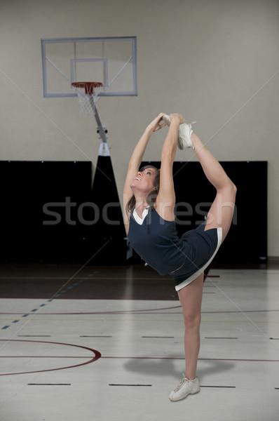 Cheerleader mooie jonge vrouw vrouw meisje glimlach Stockfoto © piedmontphoto